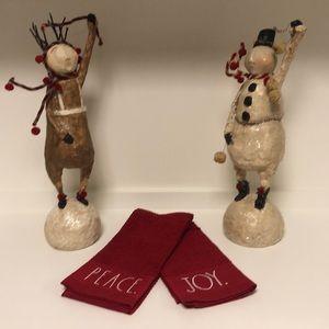 New Rae Dunn Christmas Kitchen Towels Peace Joy